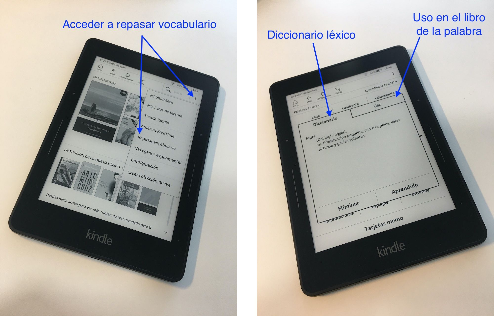 Kindle---Pantallas-con-flechas